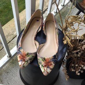 Nine west flower velvet shoes size 8.5